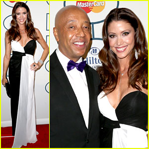 Shannon Elizabeth & Russell Simmons: New Couple at Grammys Party!