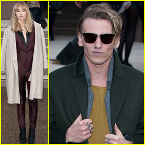 Suki Waterhouse & Jamie Campbell Bower: Burberry Prorsum Show