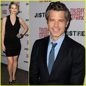 Timothy Olyphant & Joelle Carter: 'Justified' Season 5 Premiere!