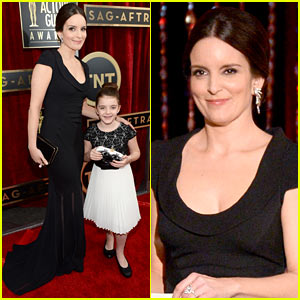 Tina Fey Brings Daughter Alice to SAG Awards 2014!