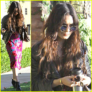 Vanessa Hudgens Hangs Out at Ashley Tisdale's Home