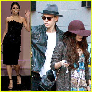 Vanessa Hudgens & Austin Butler Hang Before 'Leno' Taping!