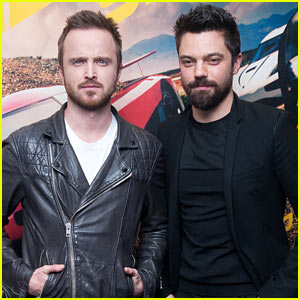 Aaron Paul & Dominic Cooper Promote 'Need for Speed' at Special Fan Screening!