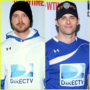 Aaron Paul & James Marsden: DirecTV Beach Bowl Players!