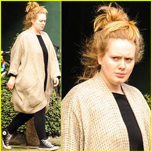 Adele Makes Rare Public Appearance for Make-Up Free Bookstore Run