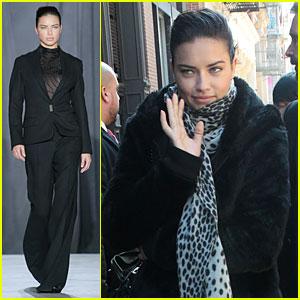 Adriana Lima Models Suit at Jason Wu Fashion Show!