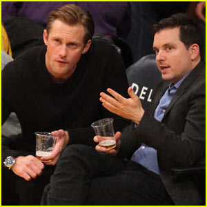 Alexander Skarsgard Watches the Lakers from Court Side Seats!