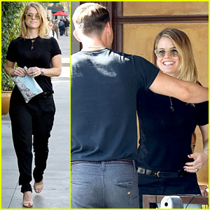 Alice Eve Hugs Her Mystery Man Goodbye After Lunch