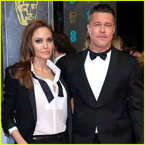 Brad Pitt & Angelina Jolie - BAFTAs 2014 Red Carpet