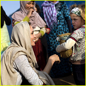 Angelina Jolie Greets Young Refugees on Trip to Lebanon