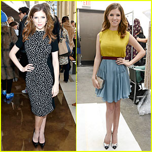 Anna Kendrick: Tory Burch & Jenny Packham Fashion Shows!
