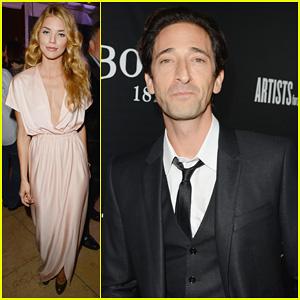 AnnaLynne McCord & Adrien Brody: Hollywood Domino Gala 2014!