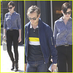 Anne Hathaway & Adam Shulman: West Hollywood Shopping Duo!