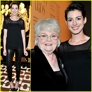 Anne Hathaway Hosts Diane Von Furstenberg's Oscar Nominees Luncheon!