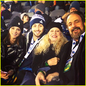 Ashley Greene: Super Bowl with Paul Khoury & His Parents!