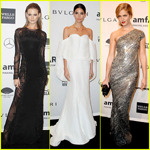 Behati Prinsloo & Lily Aldridge: Supermodels at amfAR Gala!