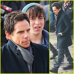 Ben Stiller: Chilly 'Night at the Museum 3' Scenes with Skyler Gisondo!