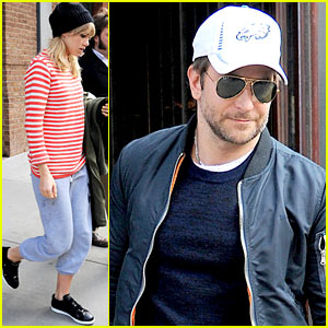 Bradley Cooper & Suki Waterhouse Check Out of Their NYC Hotel