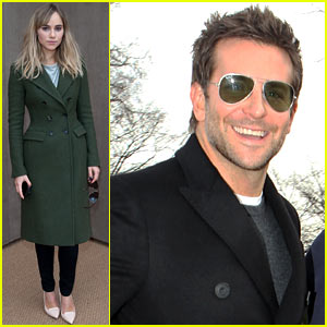 Bradley Cooper Supports Suki Waterhouse at Burberry Prorsum Show