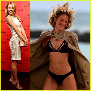 Candice Swanepoel: Bikini Shoot Before London Fashion Week!