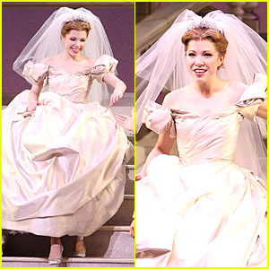 Carly Rae Jepsen Dons Wedding Dress for 'Cinderella' Curtain Call!