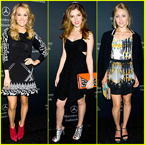Carrie Underwood & Anna Kendrick: Rebecca Minkoff Fashion Show