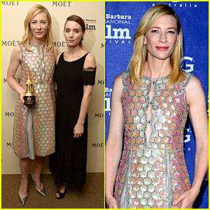 Cate Blanchett Honored by Rooney Mara at Santa Barbara Film Festival!