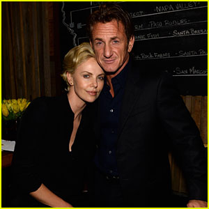 Charlize Theron Lays on Sean Penn's Shoulder at Pre-Oscars Party!