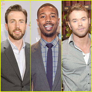 Chris Evans & Michael B. Jordan Suit Up at Vanity Fair Young Hollywood Party!
