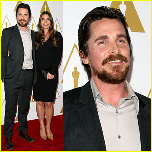 Christian Bale: Oscars Nominees Luncheon with Wife Sibi Blazic!