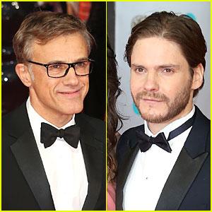 Christoph Waltz & Daniel Bruhl - BAFTAs 2014 Red Carpet