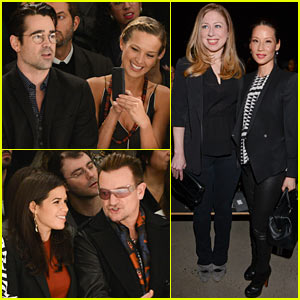 Colin Farrell & America Ferrera Support Bono & Ali Hewson at Edun Fashion Show!