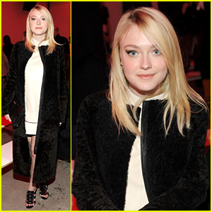Dakota Fanning Covers Up at Proenza Schouler Fashion Show
