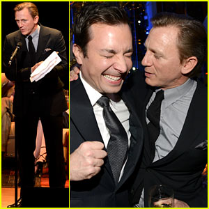 Daniel Craig Makes Jimmy Fallon Crack Up at American Songbook Gala!