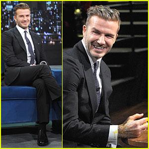 David Beckham Rocks Yolk for Egg Russian Roulette on 'Fallon'!