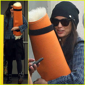 Demi Moore Keeps Up her Yoga Routine in Los Angeles