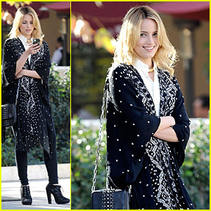 Dianna Agron Drops By Bouchon Bistro for a Bite!