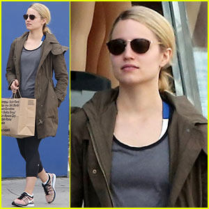 Dianna Agron Gets Her Shop On at American Apparel