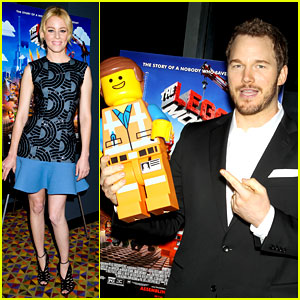 Elizabeth Banks & Chris Pratt: 'Lego Movie' NYC Screening!