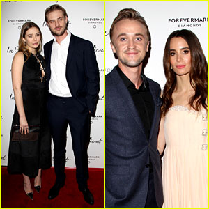 Elizabeth Olsen & Tom Felton: Date Night at 'In Secret' Premiere!