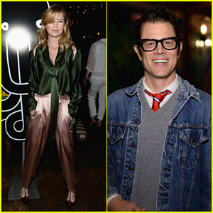 Ellen Pompeo & Johnny Knoxville: 'Happy' Pre-Oscars Party!