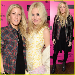 Ellie Goulding: London Fashion Week Party with Pixie Lott!