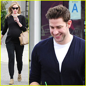 Emily Blunt & John Krasinski Quench Thirst at Liquid Juice Bar!
