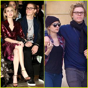 Emma Roberts & Evan Peters Skip Oscars Madness for Paris Fashion Week Fun!