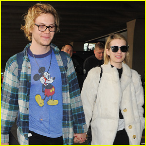 Emma Roberts & Evan Peters Touch Down in Paris!