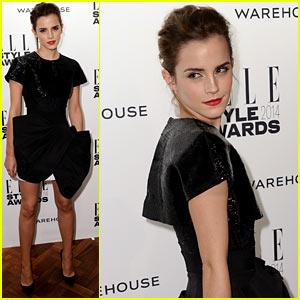 Emma Watson: Beaded Beauty at Elle Style Awards 2014
