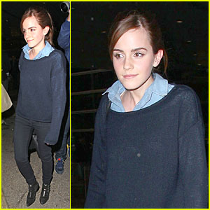 Emma Watson: LAX Airport Arrival Before Oscars 2014!