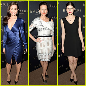 Emmy Rossum & Camilla Belle: Gorgeous Babes at Decades of Glamour Event!