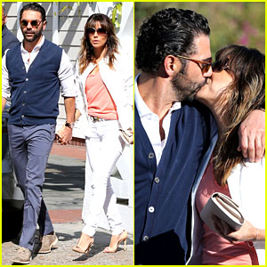 Eva Longoria & Jose Baston Share Romantic Kiss After Brunch!