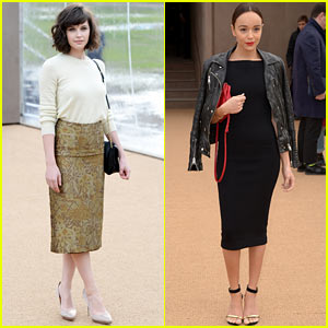 Felicity Jones & Ashley Madekwe: Burberry Prorsum Show!